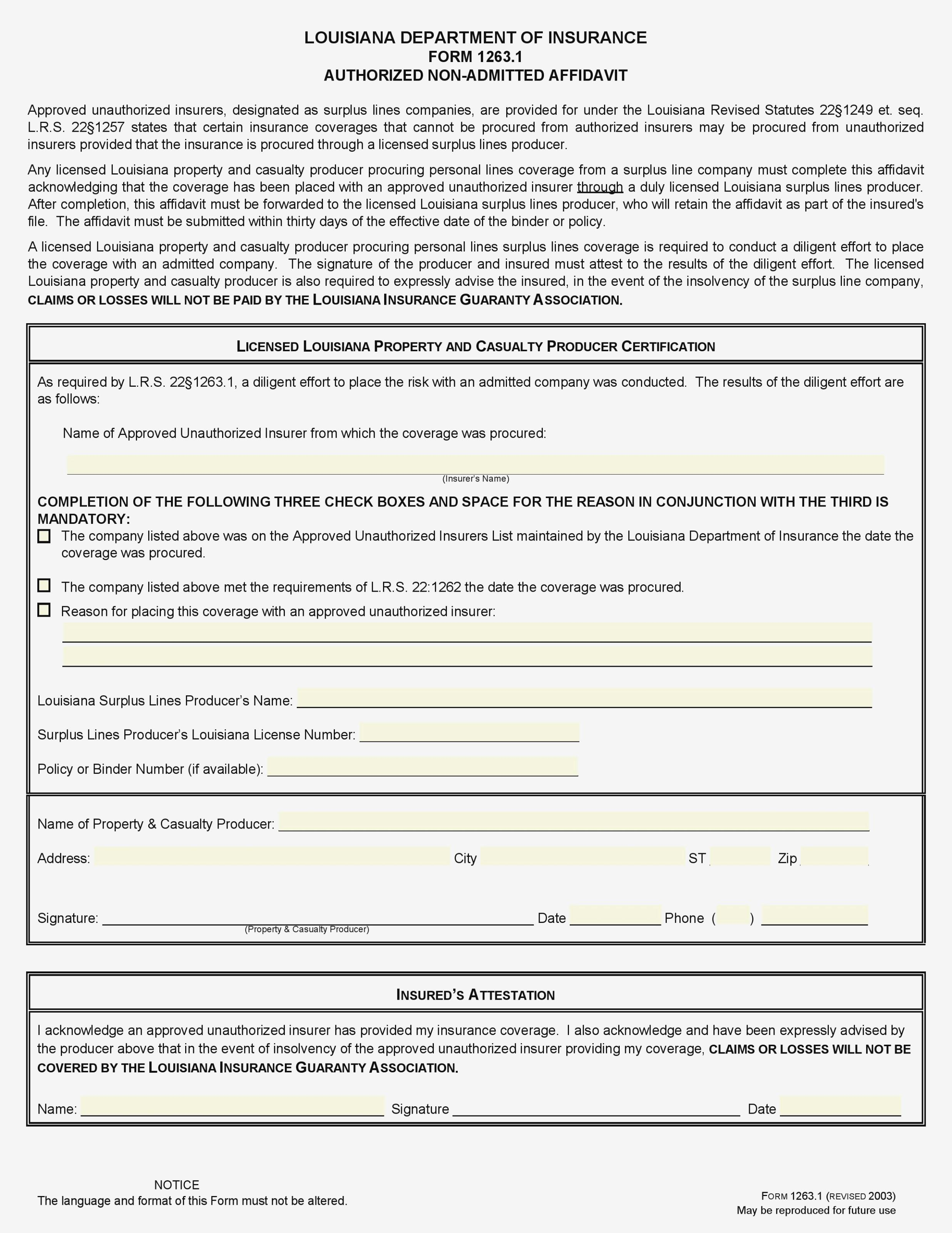 Free Affidavit Template Pdf