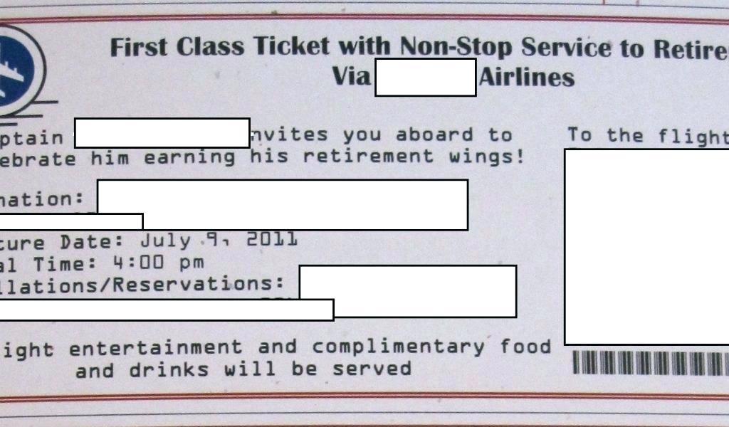 Free Airline Ticket Birthday Invitation Template