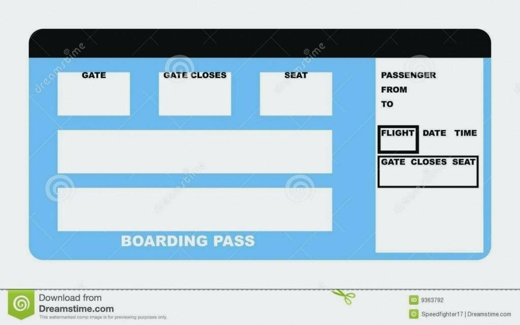 Free Airline Ticket Template Word