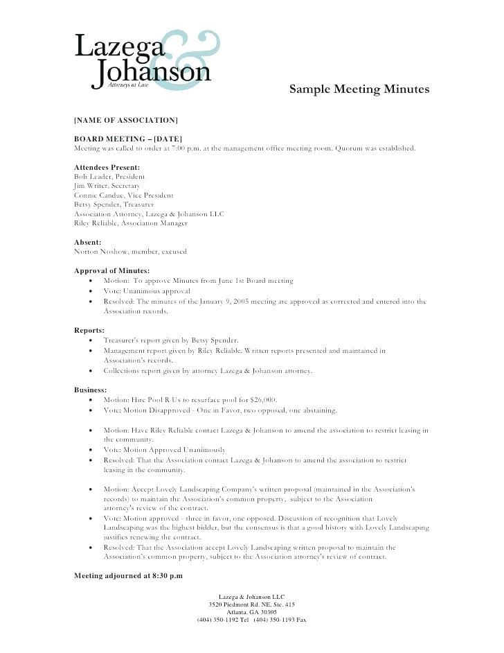 Free Annual Corporate Minutes Template