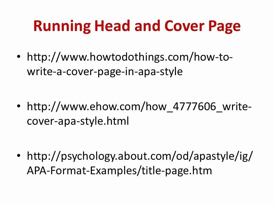 Free Apa Paper Format Template