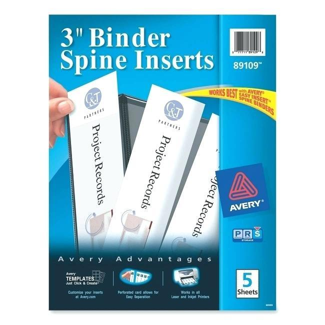 Free Avery Binder Spine Template