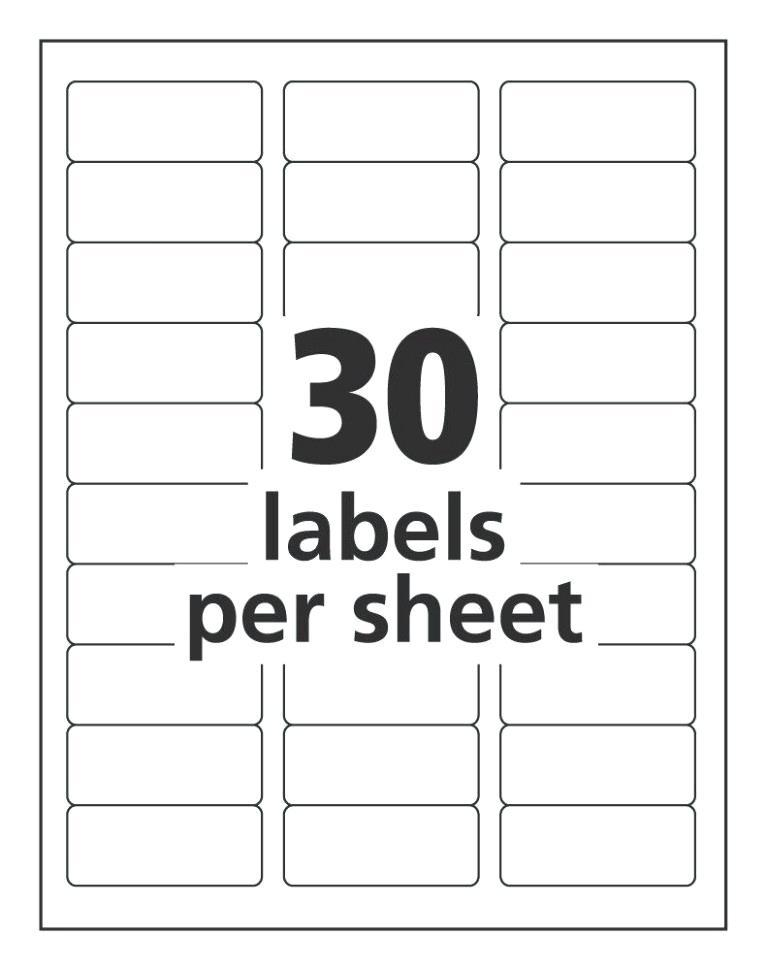 Free Avery Shipping Labels Template
