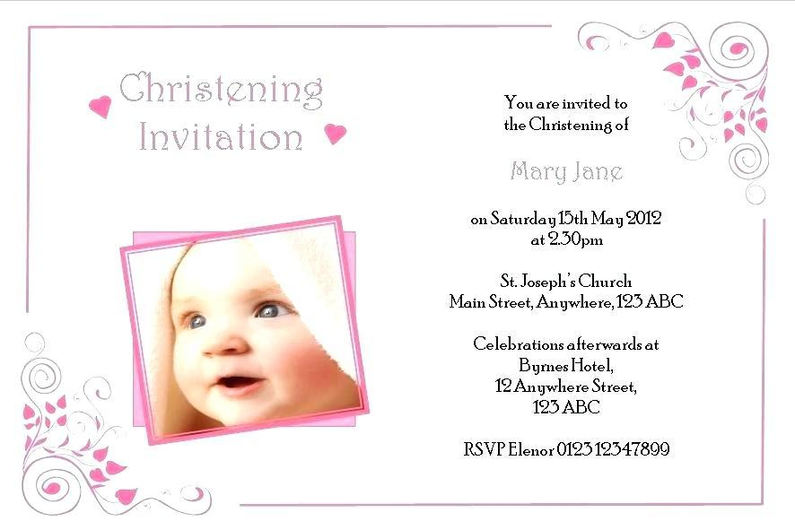 Free Baby Girl Christening Invitation Templates