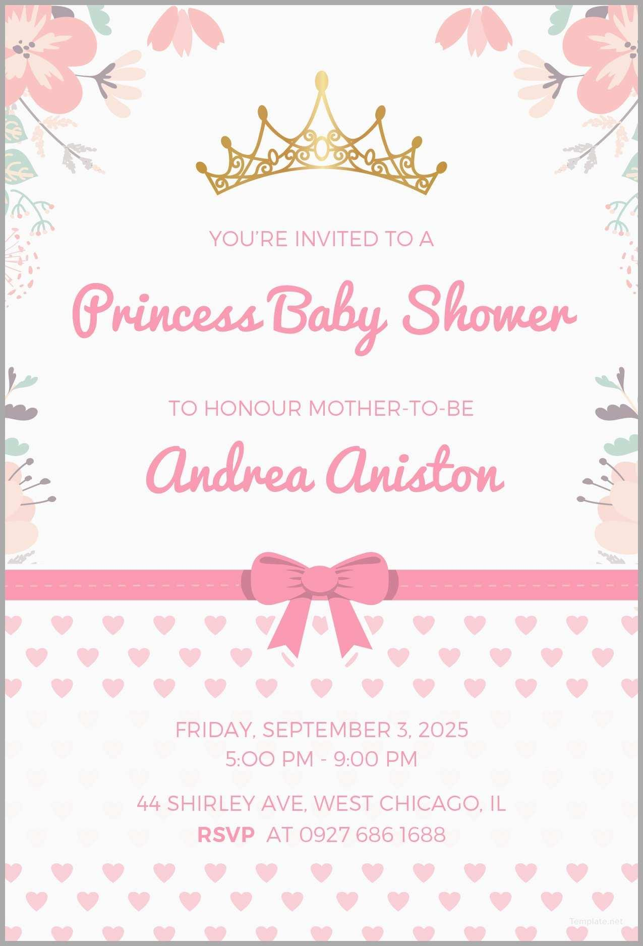 Free Baby Shower Invitations Templates Psd