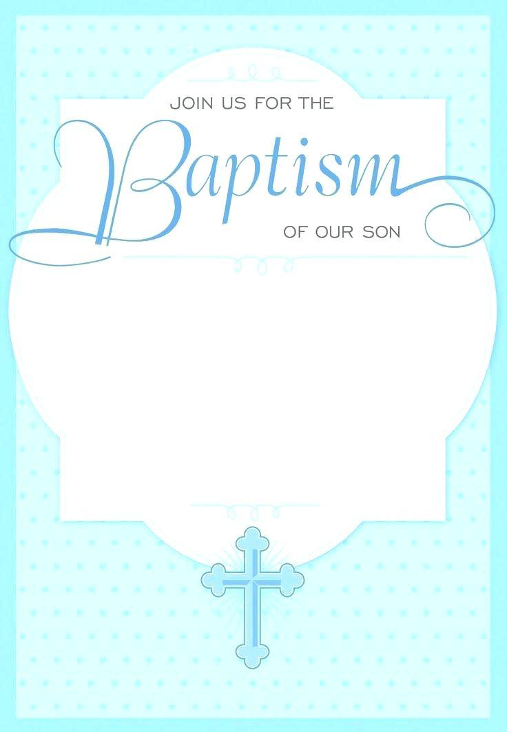 Free Baptism Invitation Template Psd