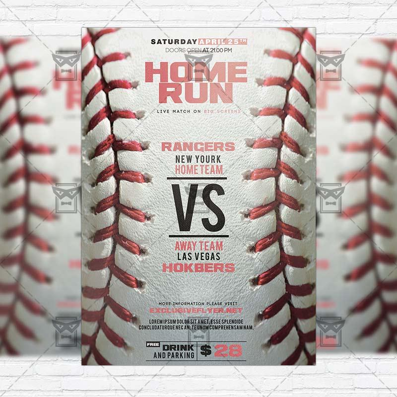 Free Baseball Game Flyer Template