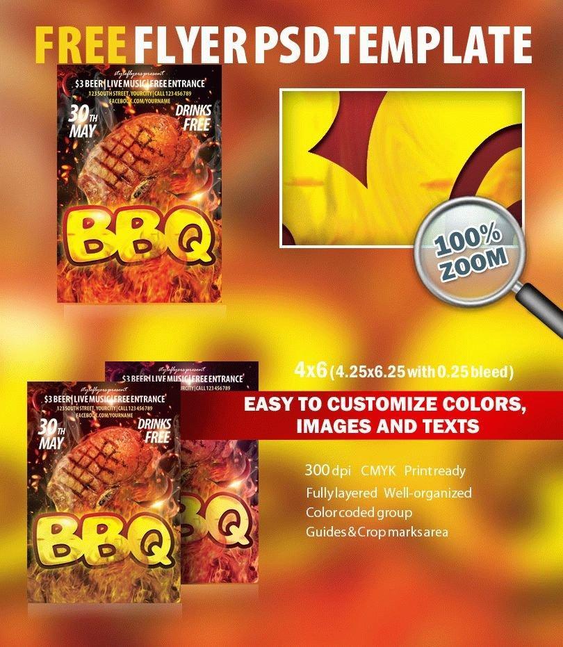 Free Bbq Flyer Template Psd