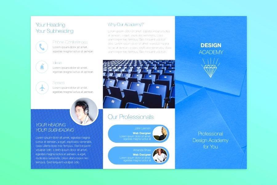 Free Bi Fold Brochure Template Publisher