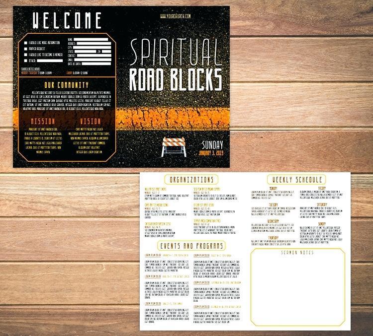 Free Bi Fold Church Bulletin Template