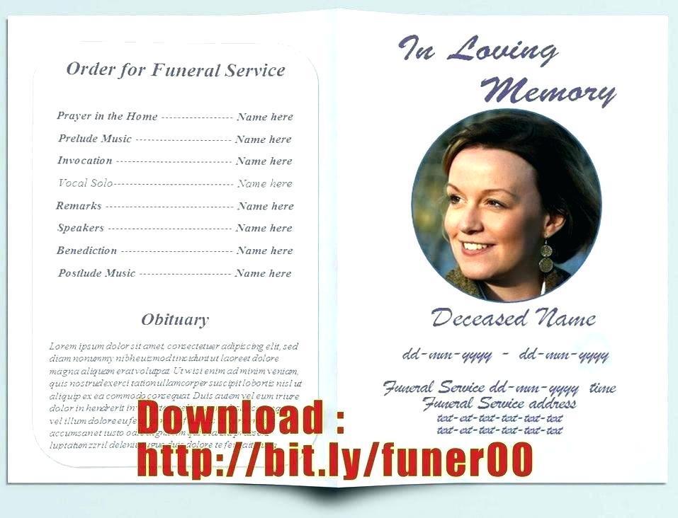 Free Bi Fold Funeral Program Templates