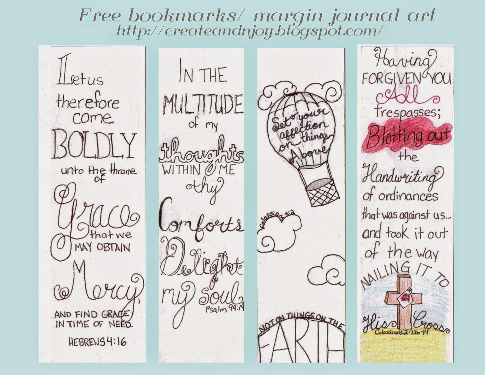 Free Bible Journaling Margin Templates