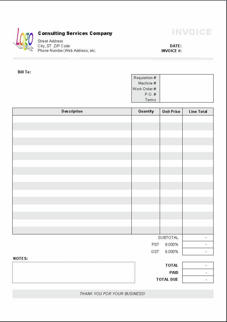 Free Billing Invoice Forms