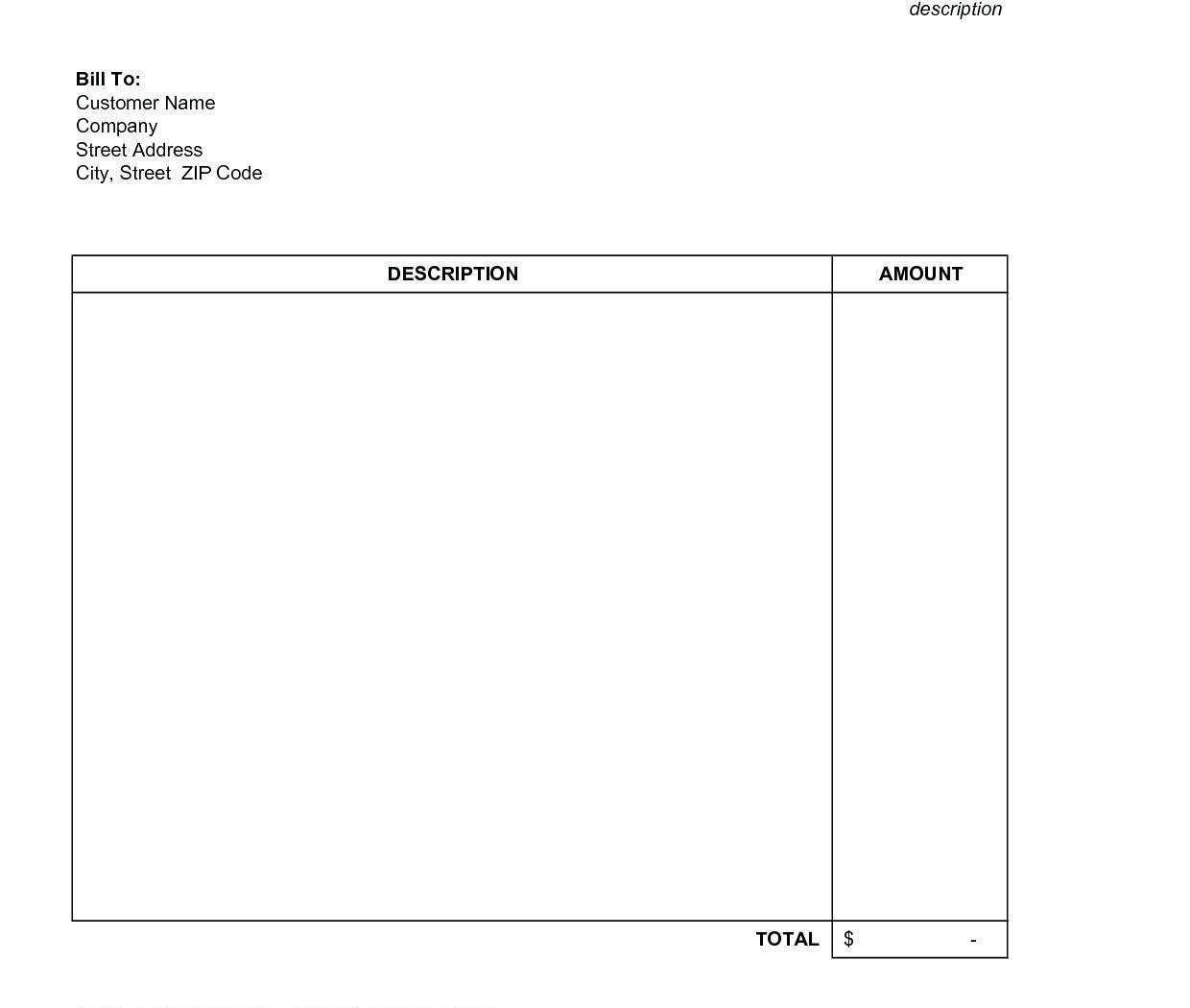 Free Billing Invoice Template For Openoffice