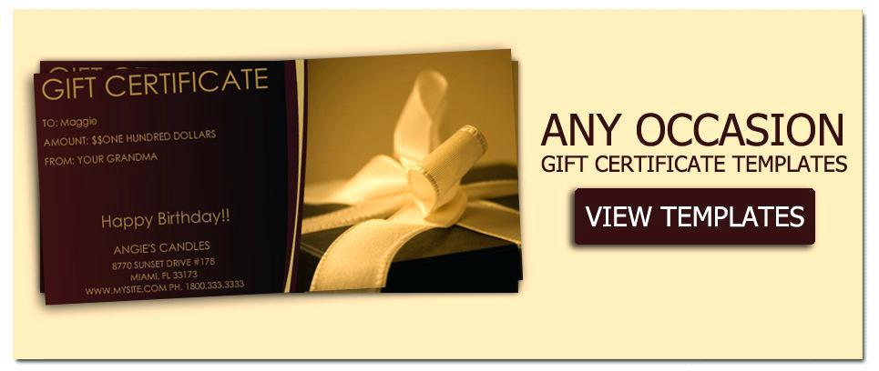 Free Birthday Gift Certificate Template For Word