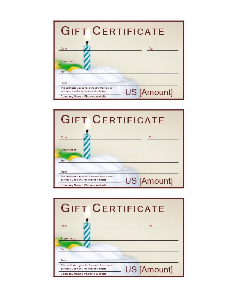 Free Birthday Gift Voucher Template Word