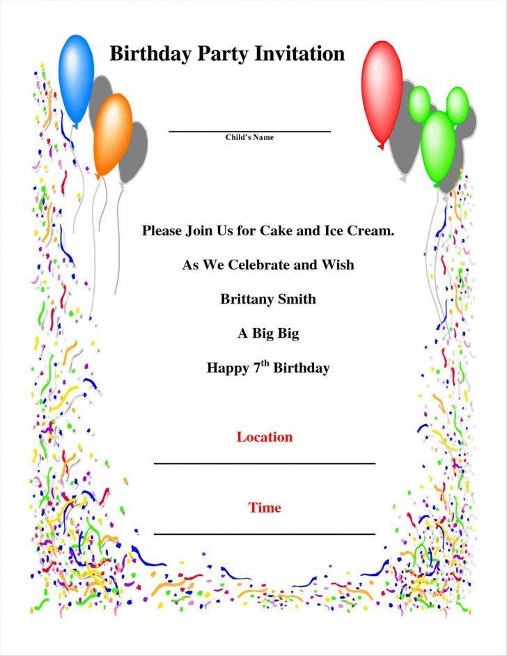 Free Birthday Invitation Templates For Whatsapp