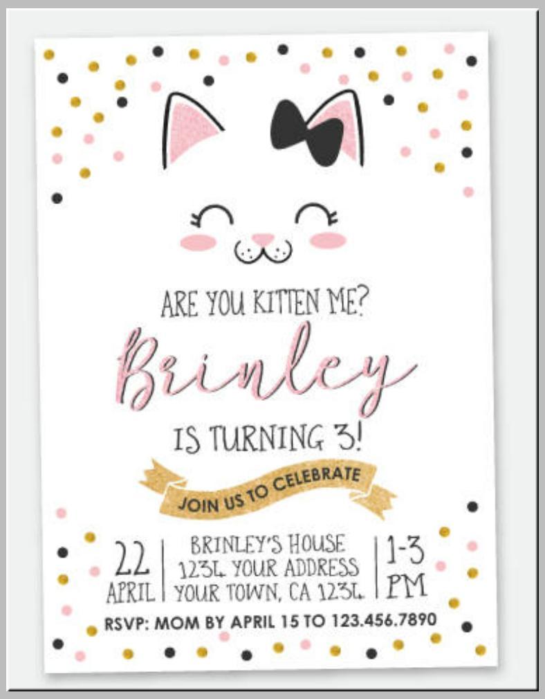 Free Birthday Invitation Templates Pdf