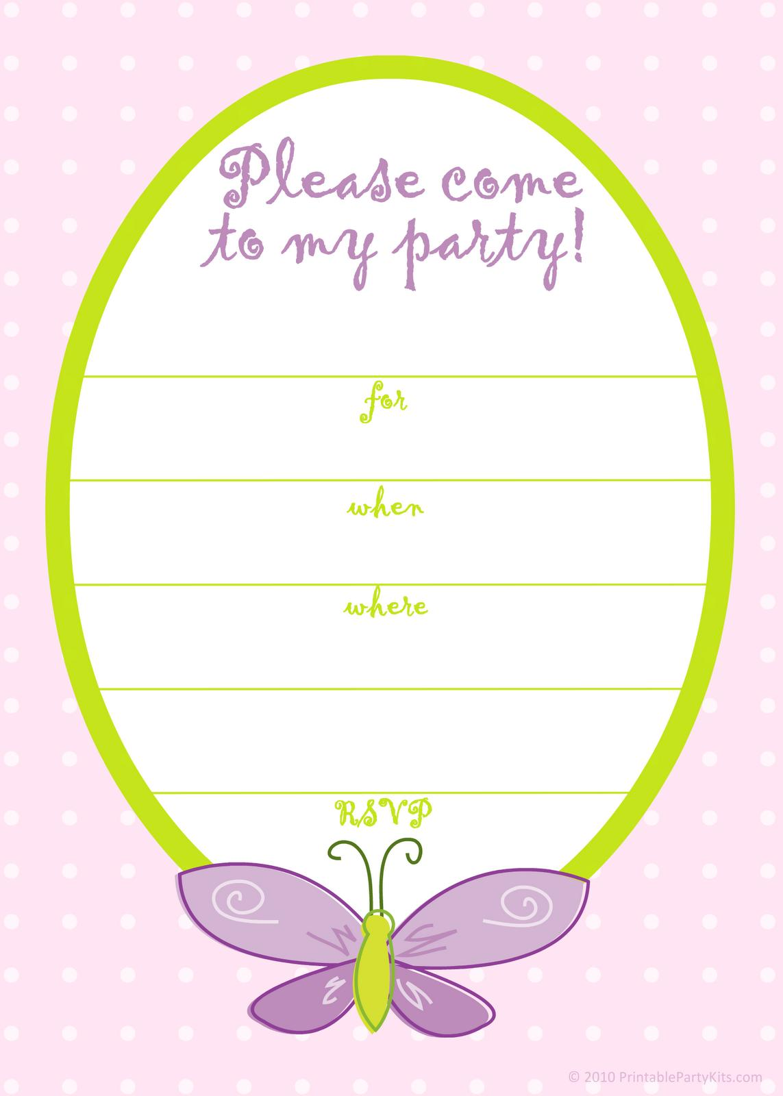 Free Birthday Invitation Templates Pinterest