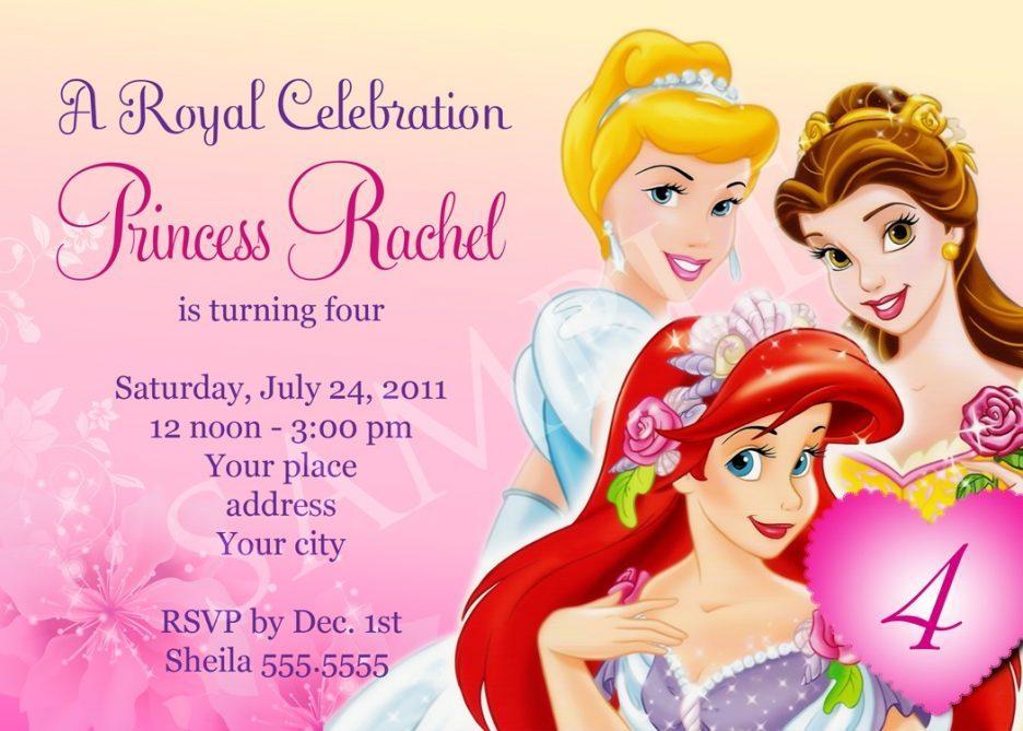Free Birthday Invitation Templates Princess