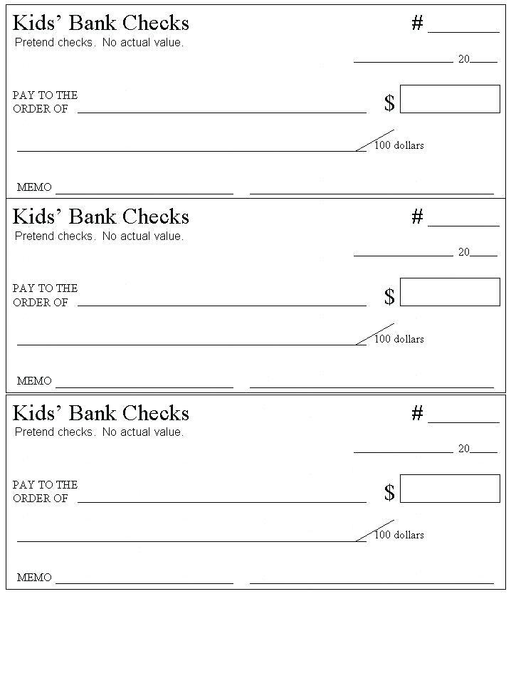 Free Blank Check Template For Presentation