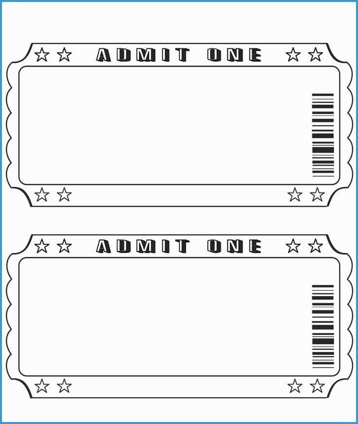 Free Blank Event Ticket Template