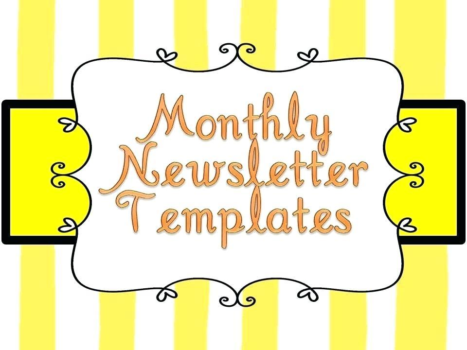 Free Blank Preschool Newsletter Templates