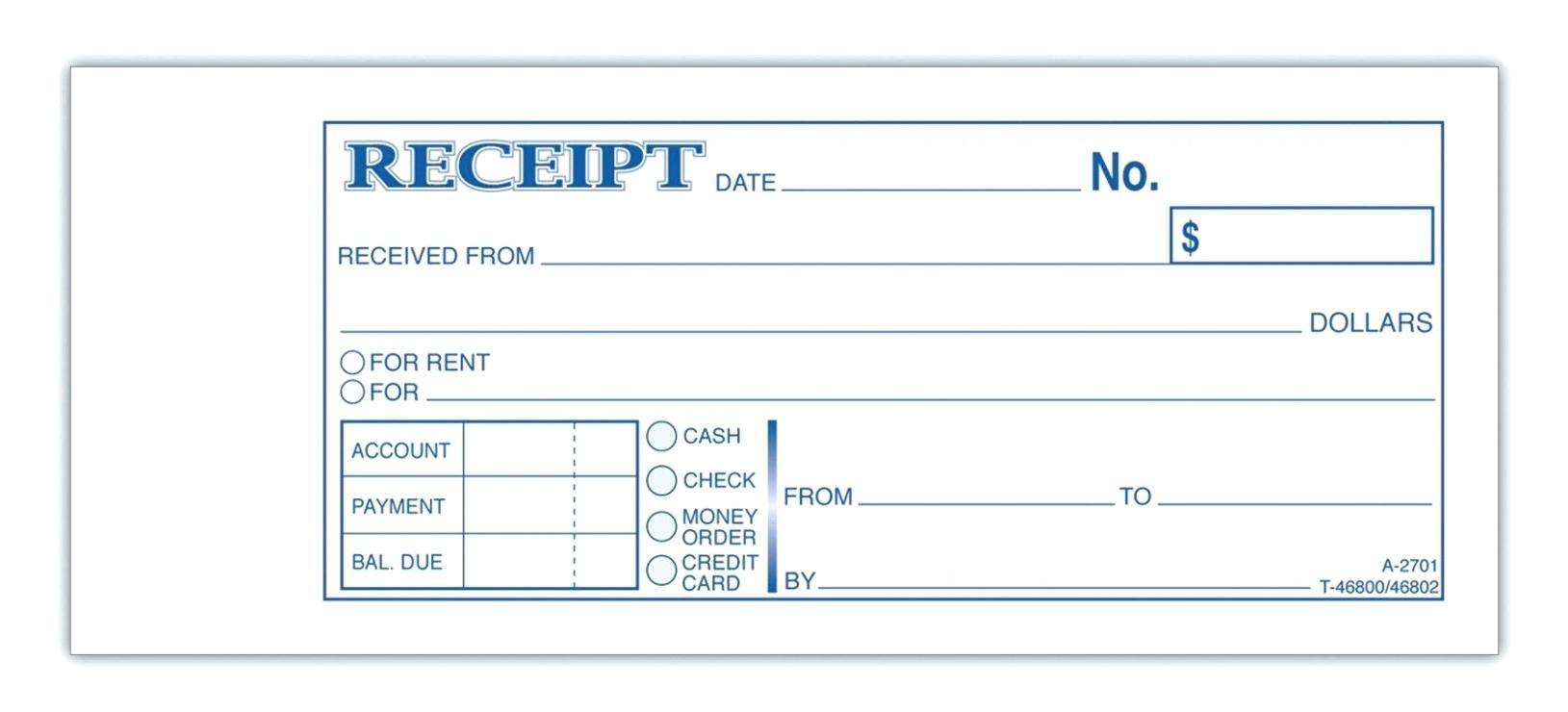 Free Blank Rent Receipt Template