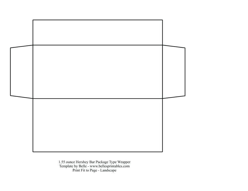 Free Blank Template For Candy Bar Wrappers