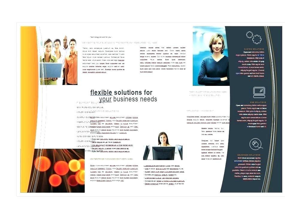 Free Blank Template For Tri Fold Brochure