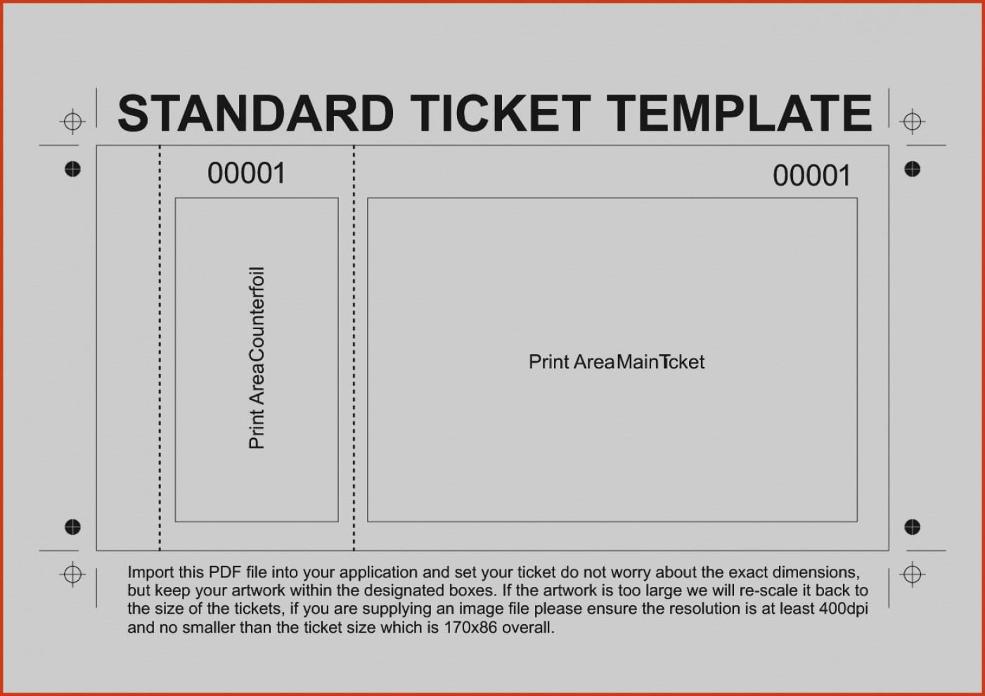 Free Blank Ticket Template Word