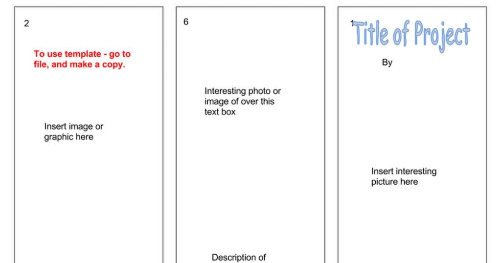 Free Blank Tri Fold Brochure Template