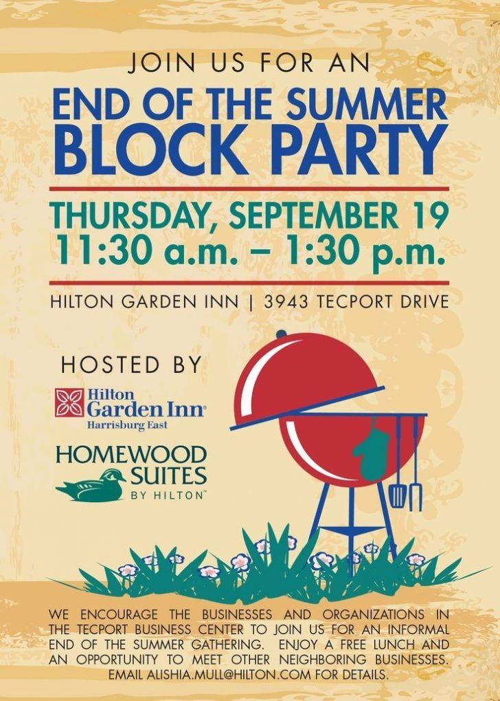 Free Block Party Flyer Template Summer