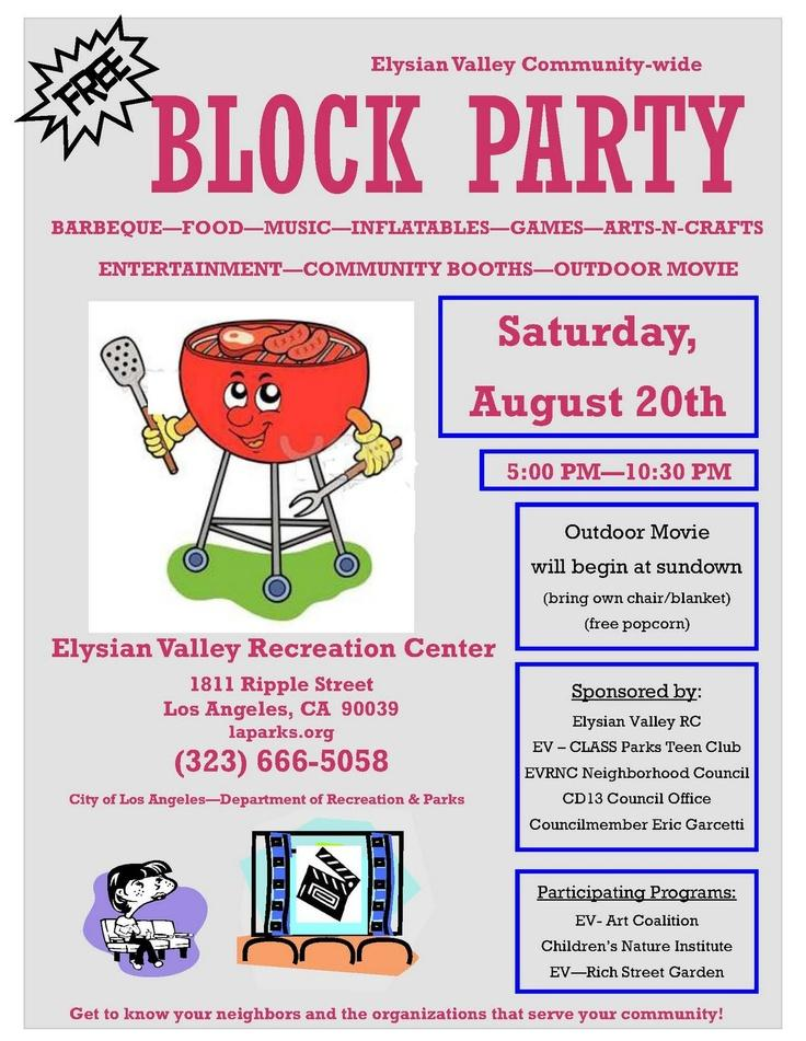 Free Block Party Flyer Template