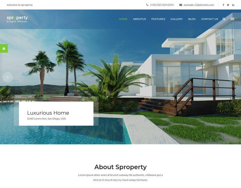 Free Bootstrap Real Estate Website Templates