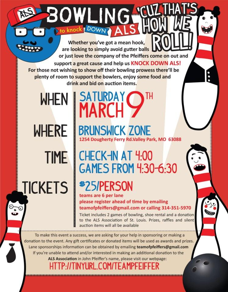 Free Bowling Fundraiser Flyer Template