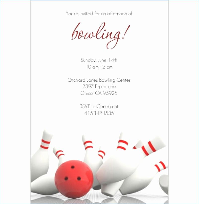 Free Bowling Pin Invitation Template