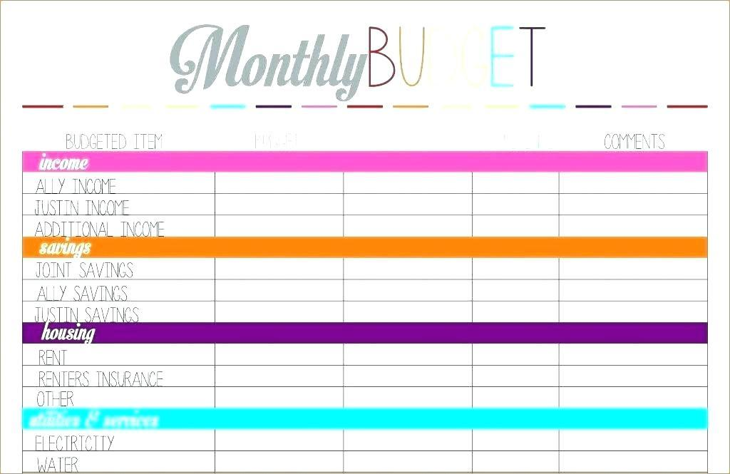 Free Budget Planner Template Pdf