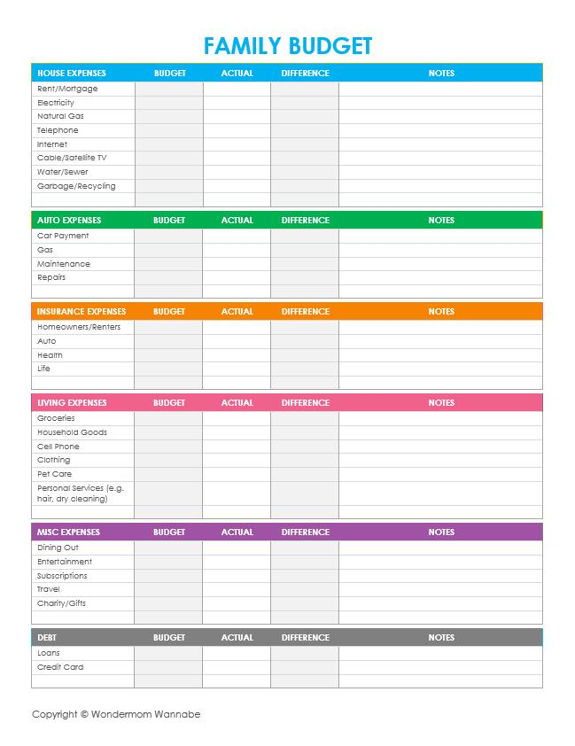 Free Budget Spreadsheet Template Excel
