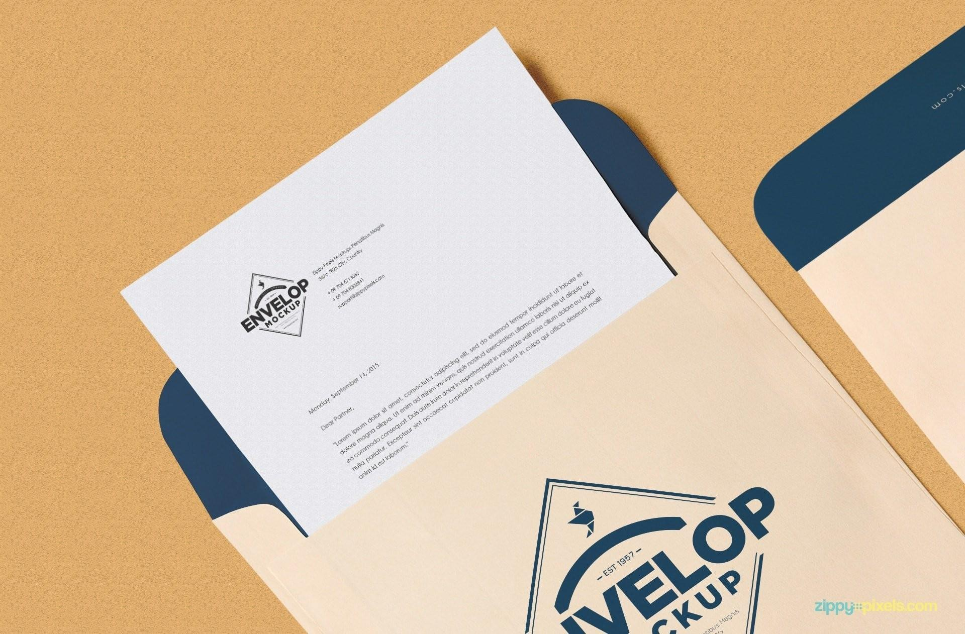 Free Business Card Letterhead Template Download