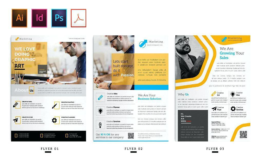 Free Business Flyer Templates Indesign