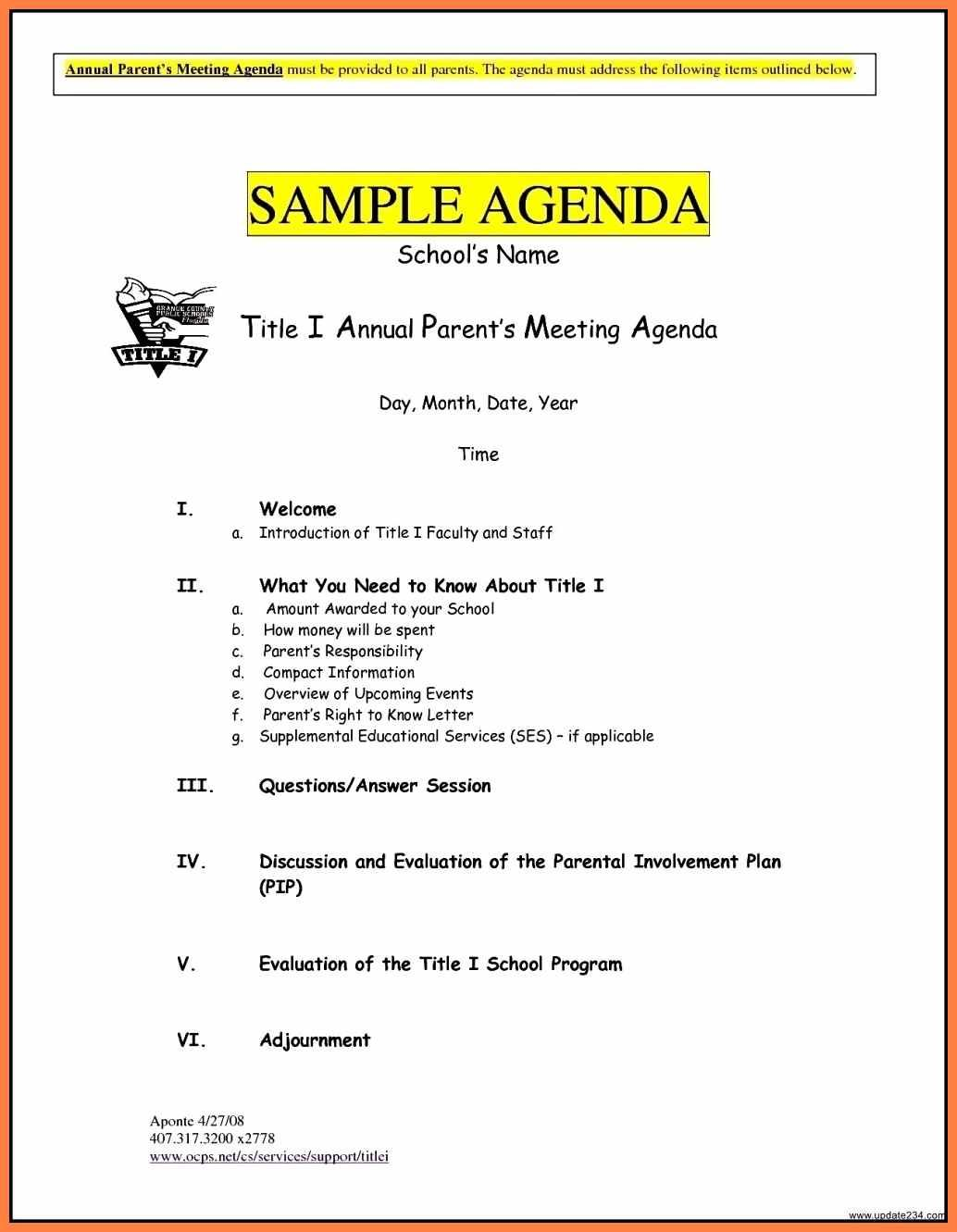 Free Business Meeting Agenda Template Word