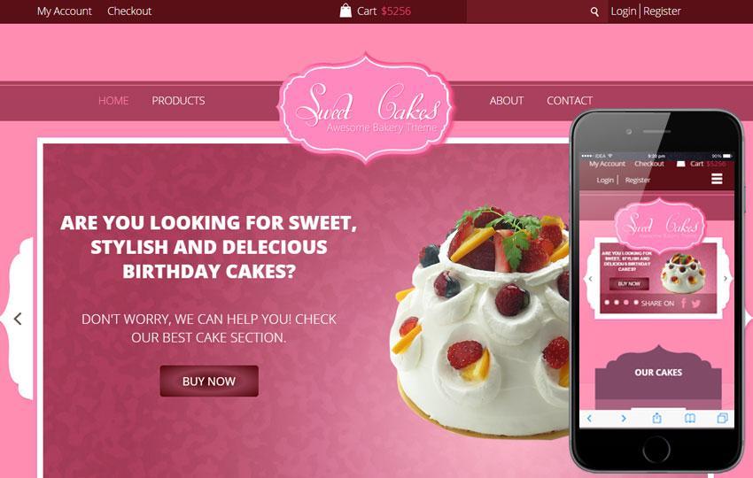 Free Cake Shop Template