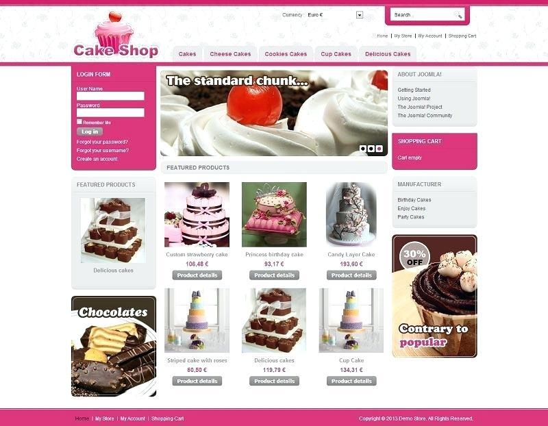 Free Cake Website Templates