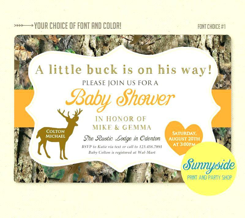 Free Camo Baby Shower Invitations Templates