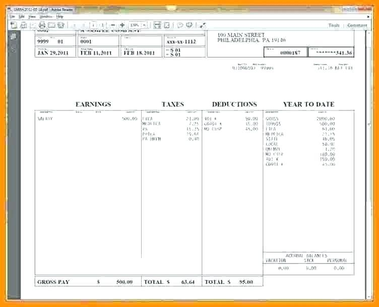 Free Canadian Pay Stub Template Excel