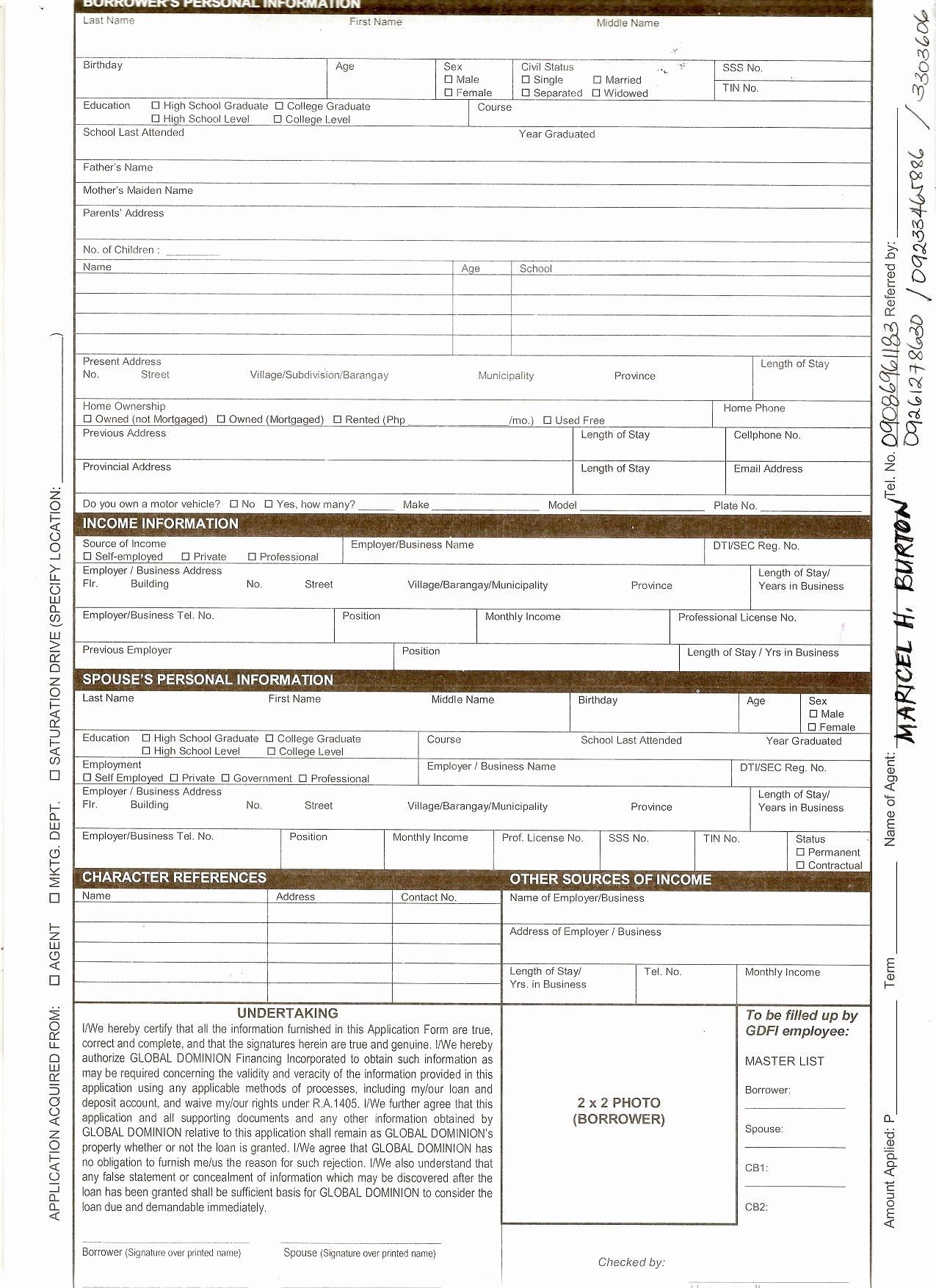 Free Car Loan Agreement Template Pdf