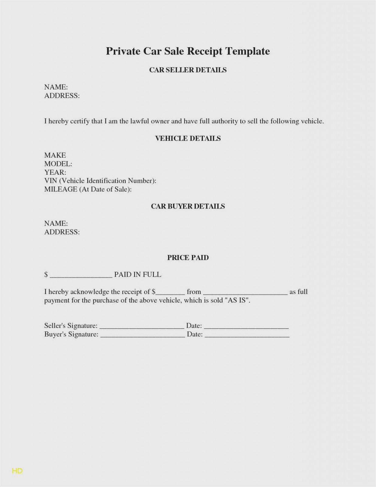 Free Car Sales Receipt Template
