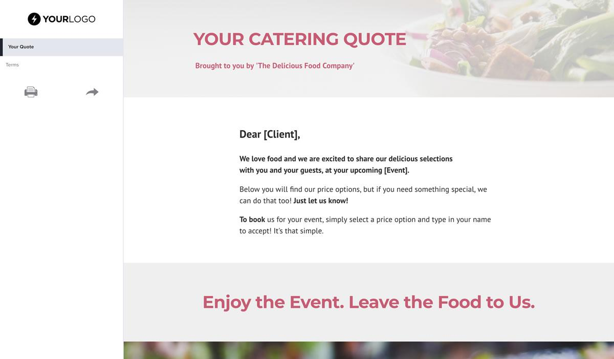 Free Catering Quote Template