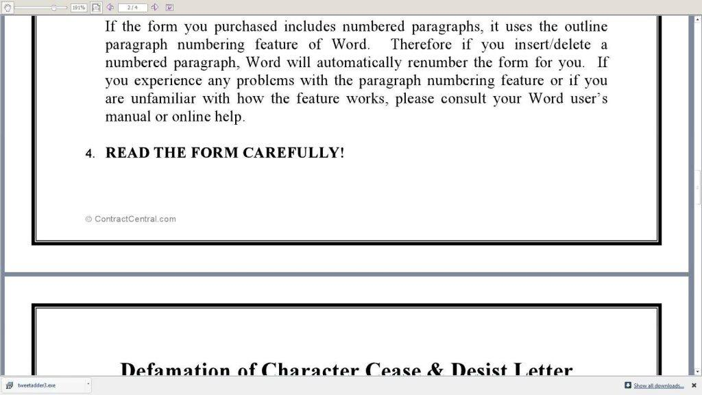 Free Cease And Desist Letter Template Canada